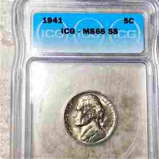 1941 Jefferson Nickel ICG - MS 66 5S