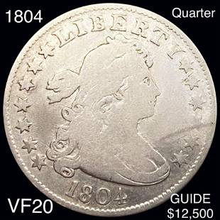 1804 Draped Bust Quarter NICELY CIRCULATED