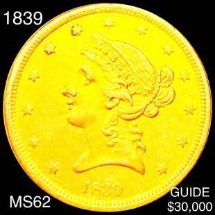 1839 $5 Gold Half Eagle UNCIRCULATED