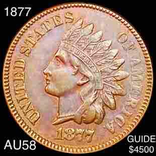 1877 Indian Head Penny CHOICE AU