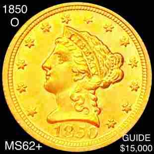 1850-O $2.50 Gold Quarter Eagle UNCIRCULATED