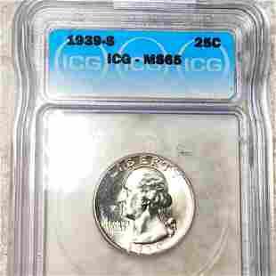 1939-S Washington Silver Quarter ICG - MS65