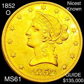 1852-O $10 Gold Eagle UNCIRCULATED