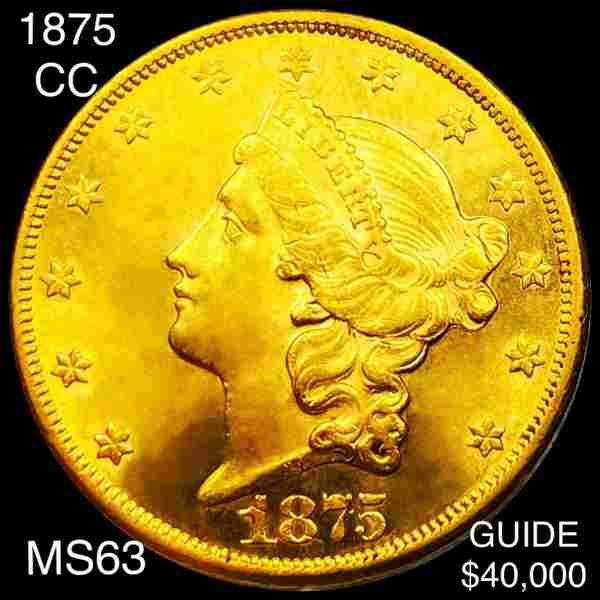 1875-CC $20 Gold Double Eagle CHOICE BU