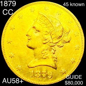 1879-CC $10 Gold Eagle CHOICE AU