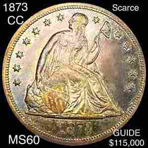 1873-CC Seated LIberty Dollar UNCIRCULATED