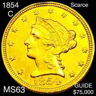 1854-C $2.50 Gold Quarter Eagle CHOICE BU
