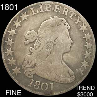 1801 Draped Bust Half Dollar NICELY CIRCULATED