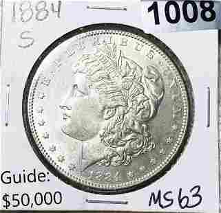 1884-S Morgan Silver Dollar UNCIRCULATED (rare)