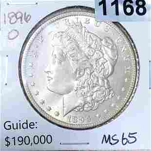 1896-O Morgan Silver Dollar GEM BU (rare)
