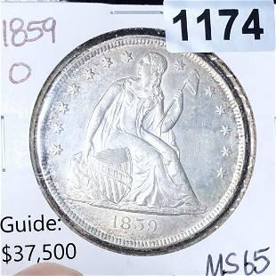 1859-O Seated Liberty Silver Dollar GEM BU (rare)