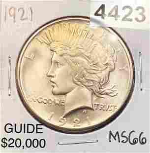 1921 Silver Peace Dollar SUPERB GEM BU