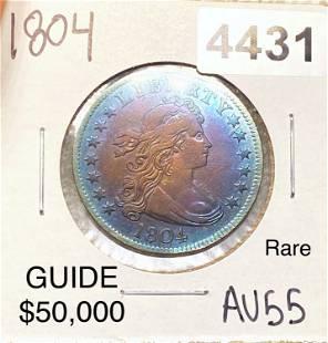 1804 Draped Bust Dollar CHOICE AU