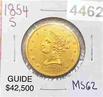 1954-S $10 Gold Eagle UNCIRCULATED