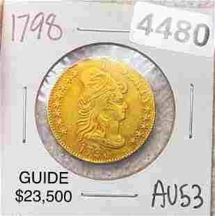 1798 $5 Gold Half Eagle CHOICE AU
