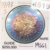 1893-S Morgan Silver Dollar UNCIRCULATED