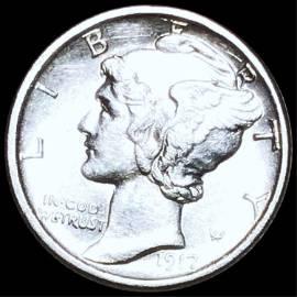 1917-S Mercury Silver Dime UNCIRCULATED