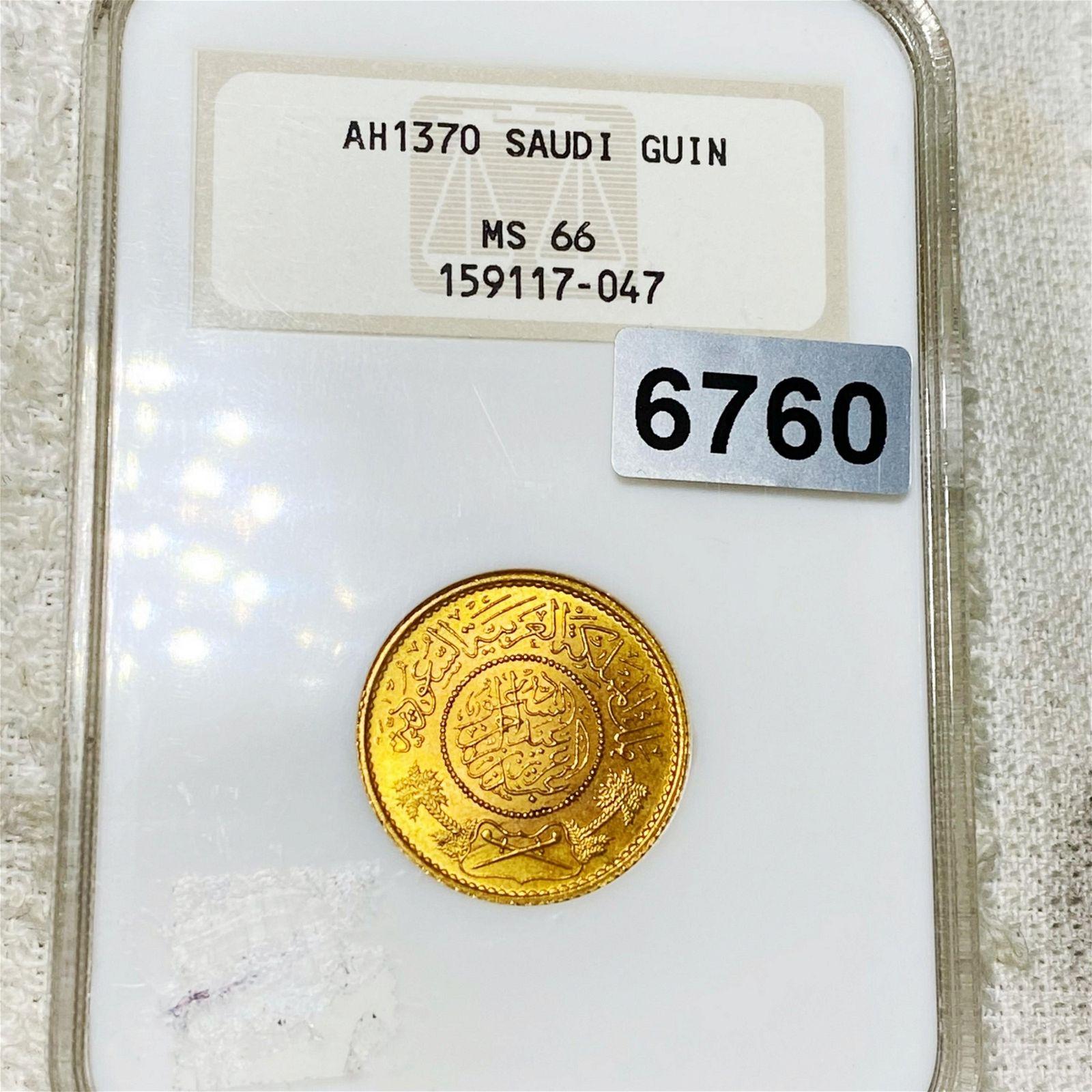 1370 Suidi Gold Guin NGC - MS66