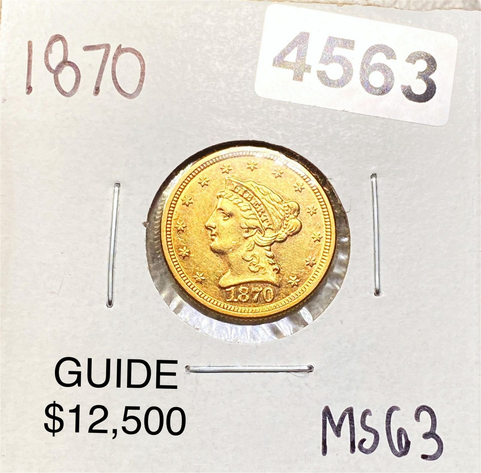 1870 $2.50 Gold Quarter Eagle CHOICE BU