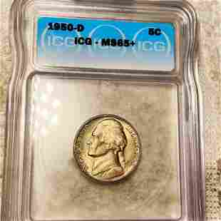 1950-D Jefferson Nickel ICG - MS65+