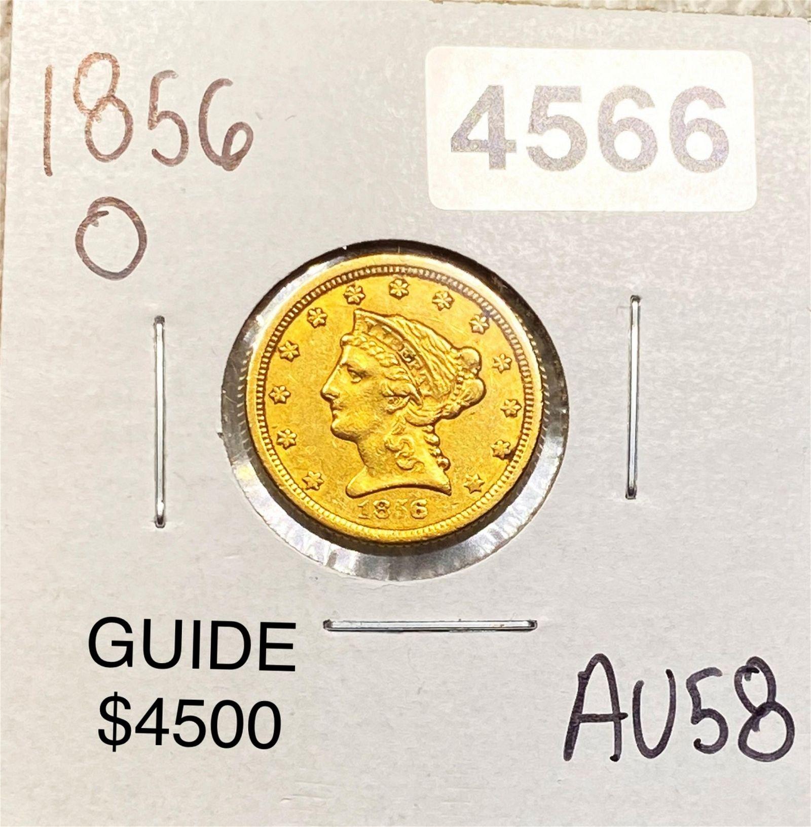 1856-O $2.50 Gold Quarter Eagle CHOICE AU