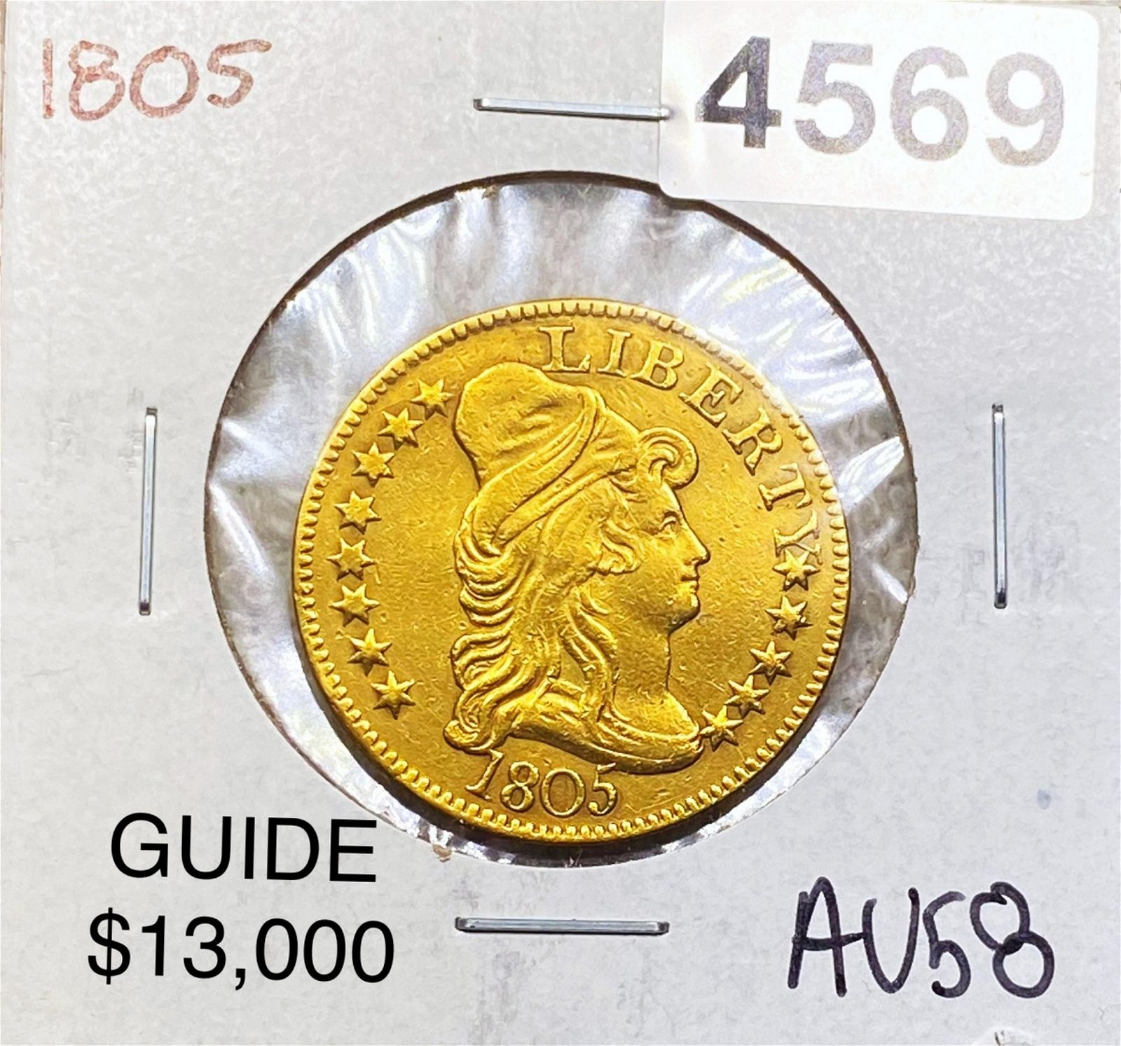 1805 $5 Gold Half Eagle CHOICE AU
