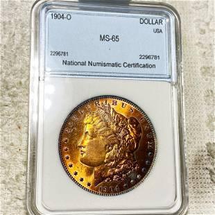 1904-O Morgan Silver Dollar NNC - MS65