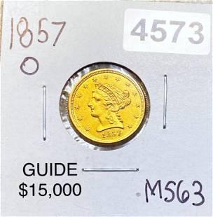 1857-O $2.50 Gold Quarter Eagle CHOICE BU