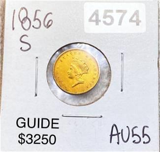 1856-S Rare Gold Dollar CHOICE AU