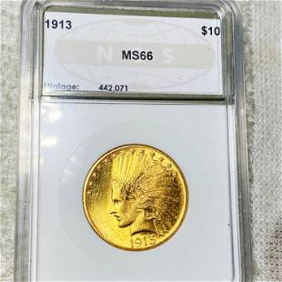 1913 $10 Gold Eagle NGS - MS66