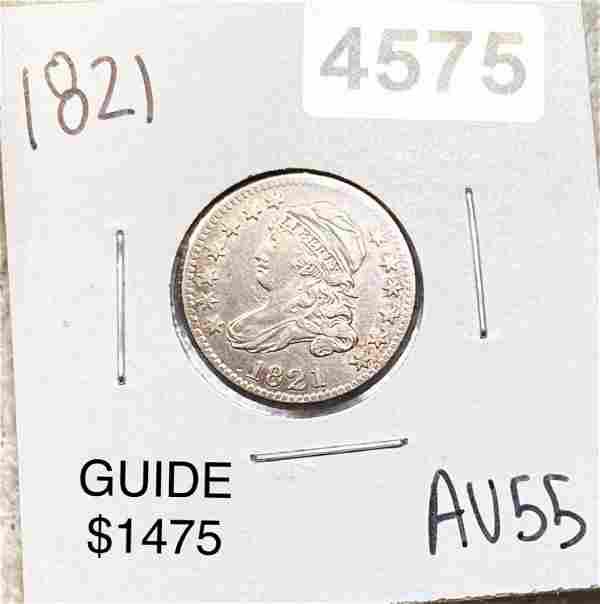 1821 Capped Bust Dime CHOICE AU