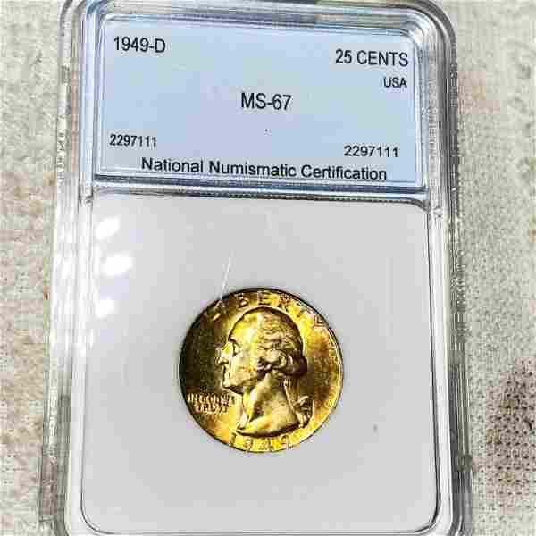 1949-D Washington Silver Quarter NNC - MS67