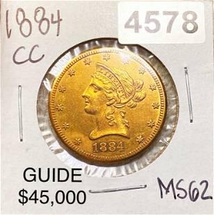1884-CC $10 Gold Eagle UNCIRCULATED