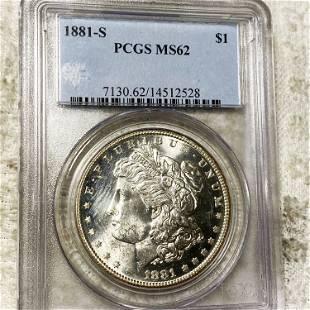 1881-S Morgan Silver Dollar PCGS - MS62