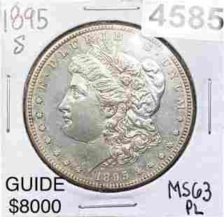 1895-S Morgan Silver Dollar CHOICE BU PL