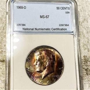 1969-D Kennedy Half Dollar NNC - MS67