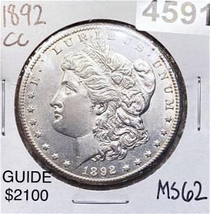 1892-CC Morgan Silver Dollar UNCIRCULATED