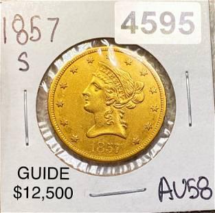 1857-S $10 Gold Eagle CHOICE AU