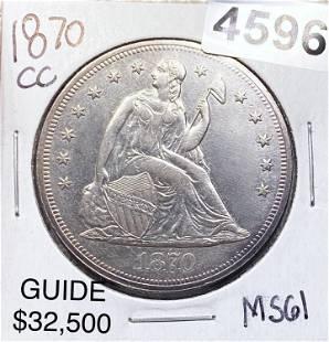 1870-CC Seated Liberty Dollar UNCIRCULATED