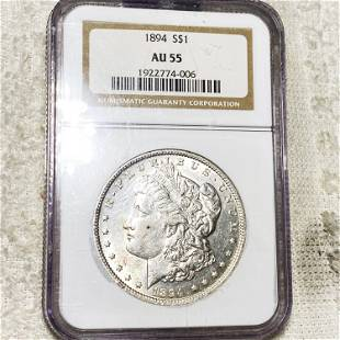 1894 Morgan Silver Dollar NGC - AU55
