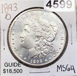1893-O Morgan Silver Dollar CHOICE BU