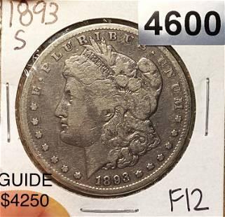 1893-S Morgan Silver Dollar NICELY CIRCULATED