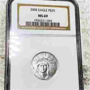 2005 $25 Platinum Eagle NGC - MS69