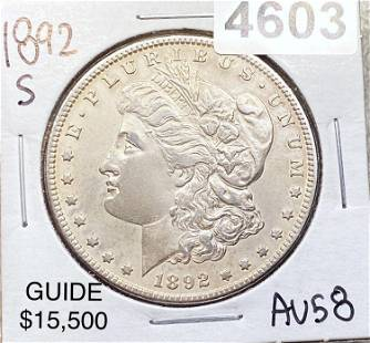 1892-S Morgan Silver Dollar CHOICE AU