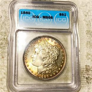 1886 Morgan Silver Dollar ICG - MS66