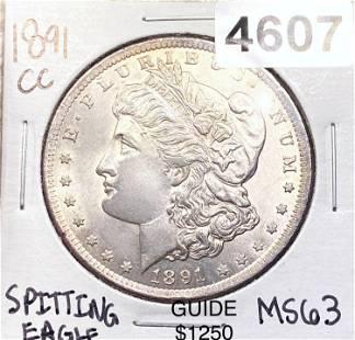 1891-CC Morgan Silver Dollar CH BU SPITTING EAGLE