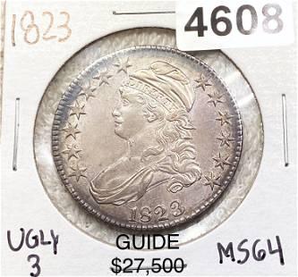 1823 Capped Bust Half Dollar CHOICE BU UGLY 3