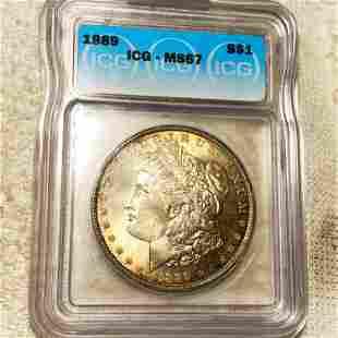 1889 Morgan Silver Dollar ICG - MS67
