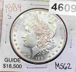 1884-S Morgan Silver Dollar UNCIRCULATED