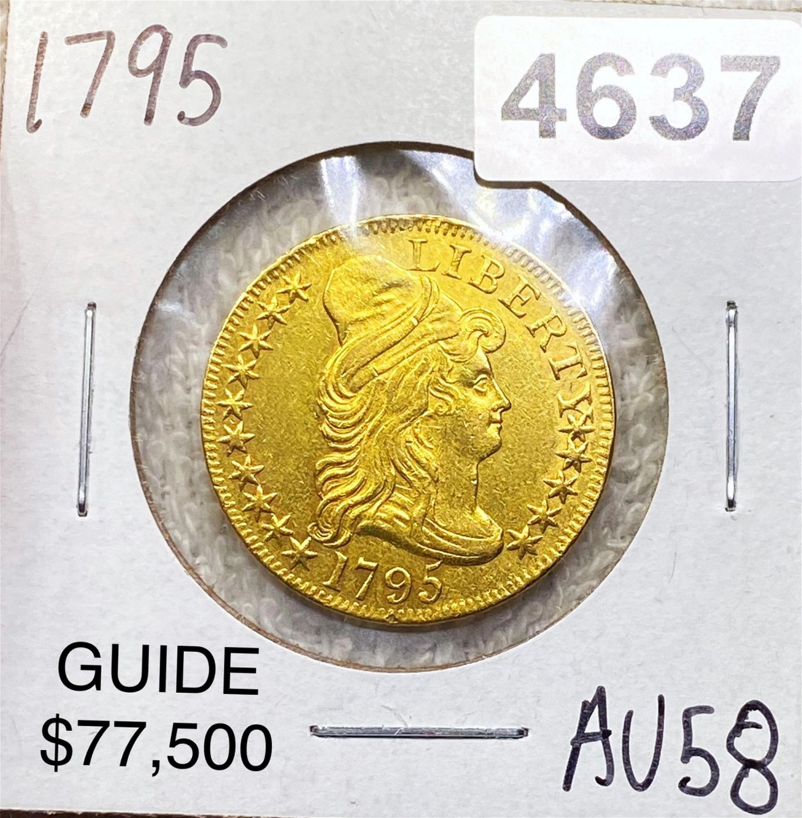 1795 $5 Gold Half Eagle CHOICE AU